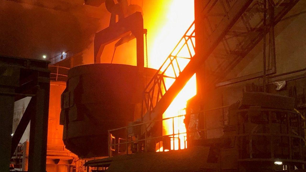 Four à arc d'ArcelorMittal à Hambourg.