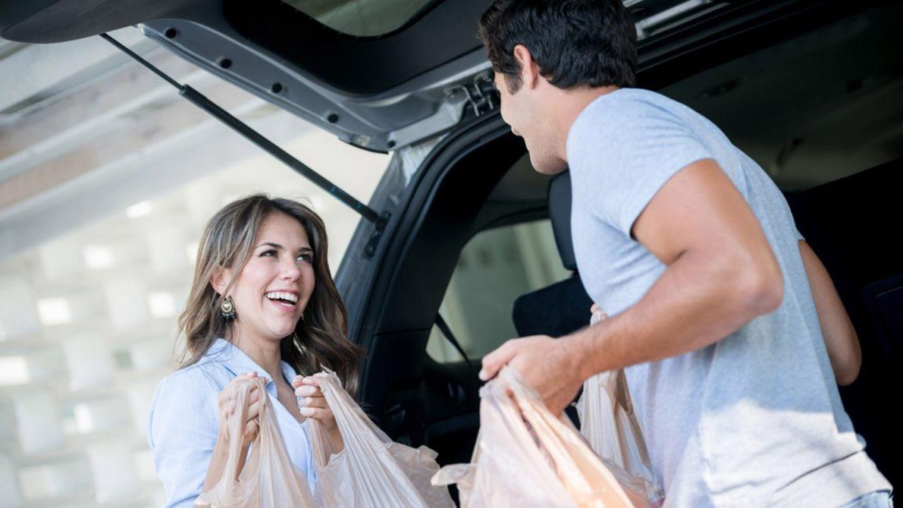 Les courses livrées à domicile sur le modèle de l'économie collaborative.