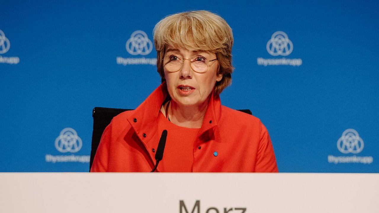 «Nous ne sommes pas encore là où nous devrions être. Les prochaines étapes pourraient être plus douloureuses que les précédentes. Mais nous devrons les affronter», a prévenu jeudi la directrice générale de Thyssenkrupp, Martina Merz.