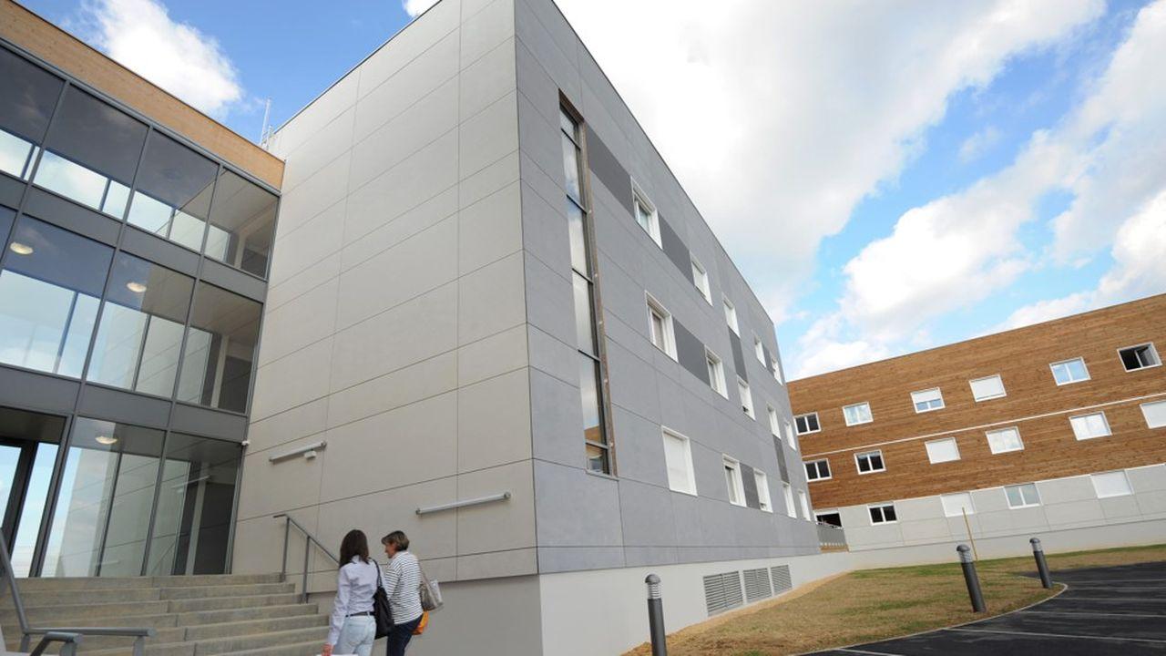 Des logements étudiants sortis de terre en 2010 à Angers (Maine-et-Loire).