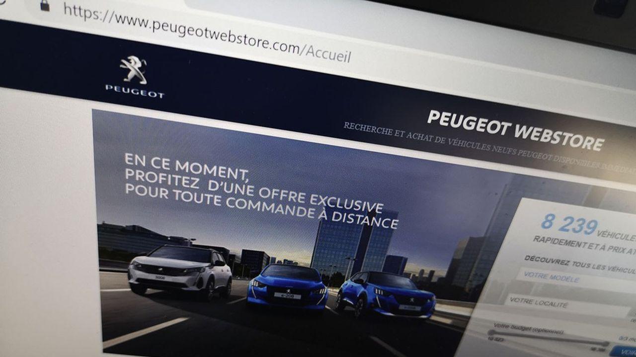 La boutique en ligne Peugeot «propose la totalité du processus d'achat: configuration du véhicule, offre de financement, estimation ferme de la valeur de reprise, et même la livraison à domicile», explique un dirigeant du groupe.