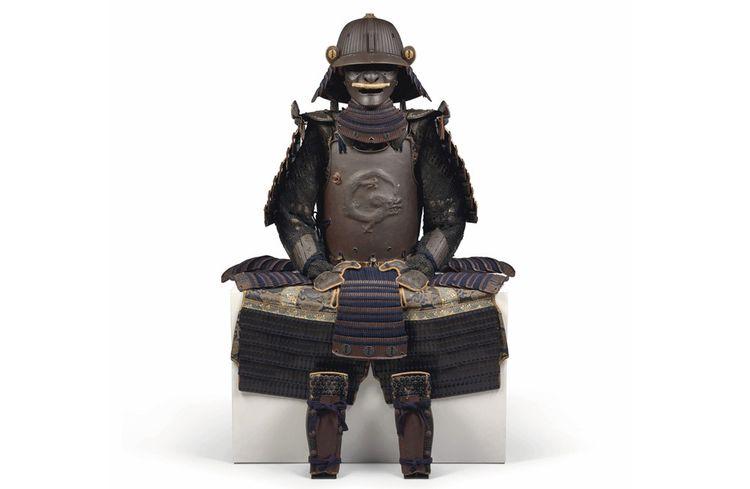 Armure japonaise estimée entre 70.000 et 100.000 euros.