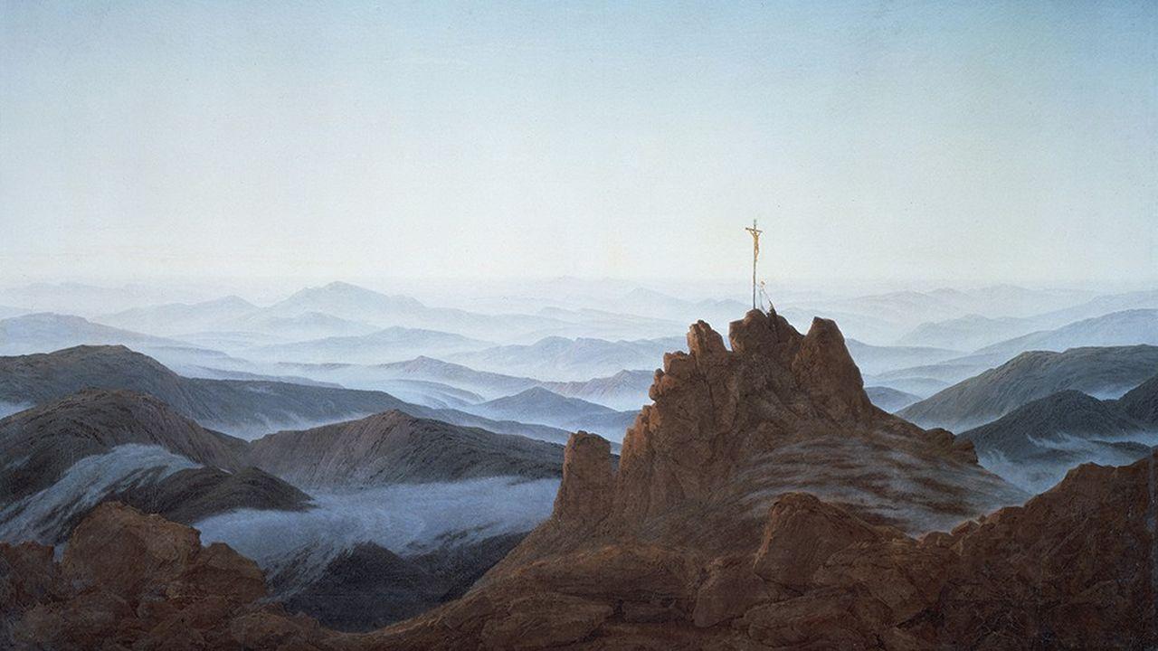 « Matin dans les Monts des Géants », de Caspar David Friedrich (1811). Une vision qui évoque les descriptions de ses contemporains Goethe, Schiller ou Heine.