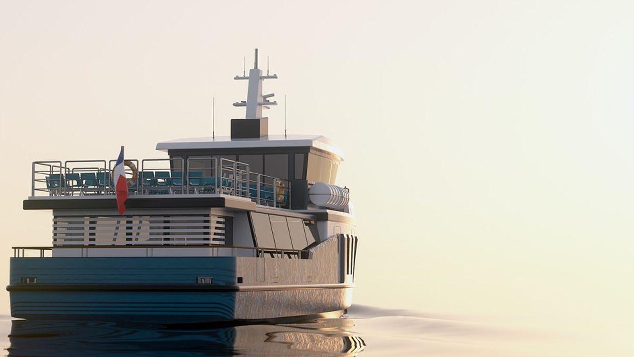 Le navire Hylas transportera de 150 à 200 passagers sans émettre de pollution dans le parc naturel régional du Golfe du Morbihan.