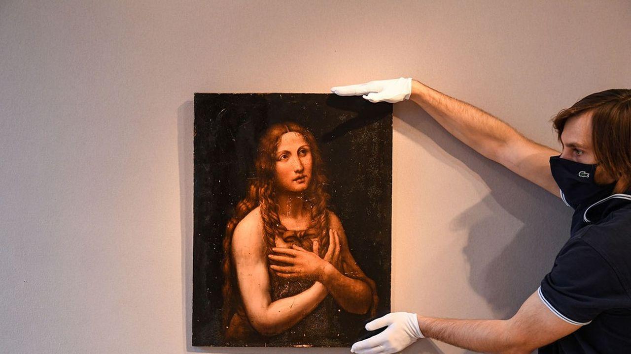 Le tableau La Madeleine pénitente de Salaì a été vendu 1,7million d'euros chez Artcurial.