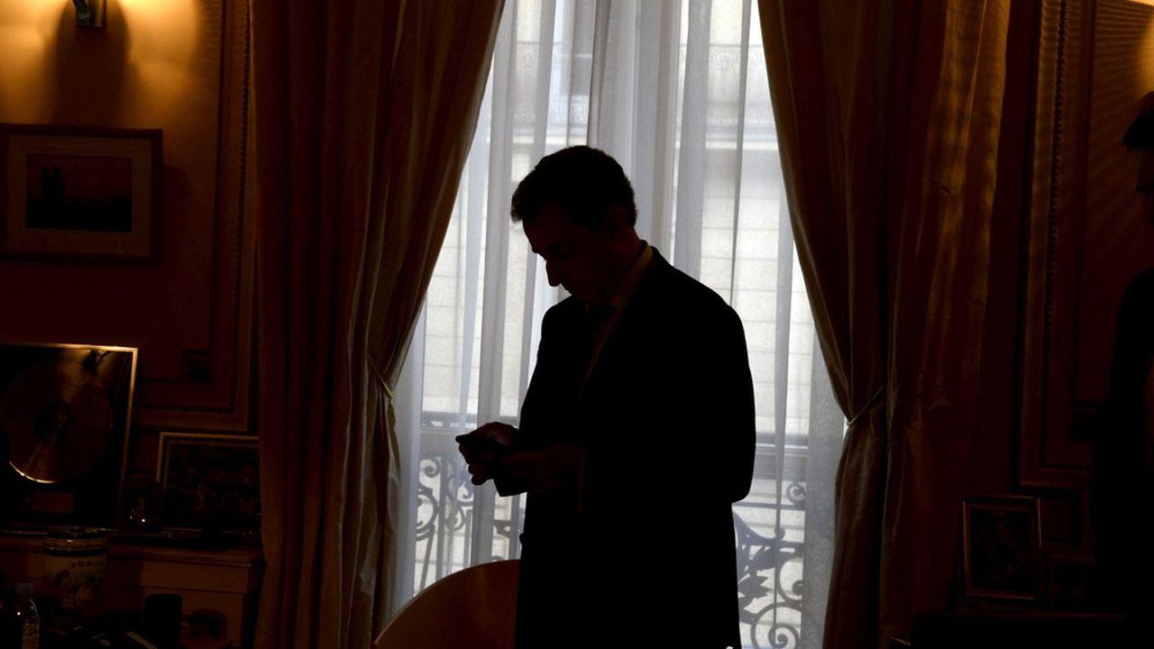 Nicolas Sarkozy, ancien président de la République, à Paris, dans son bureau de la rue de Miromesnil.