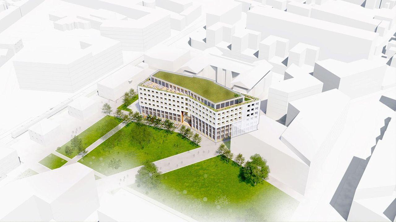 Health Tech Station, qui comprendra 1.200 mètres carrés de salles blanches et 120 places de laboratoires, pourra accueillir 800 personnes.