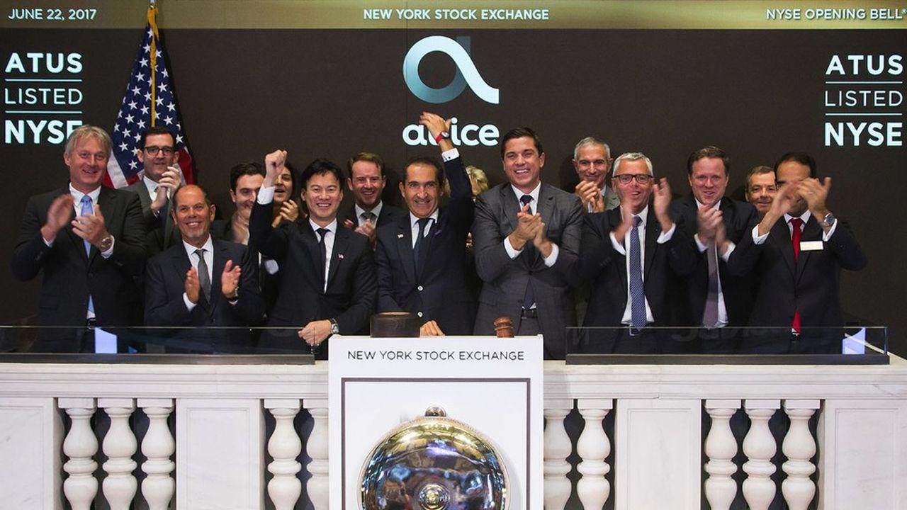Patrick Drahi en 2017 lors de l'entrée en bourse d'Altice USA à New York.