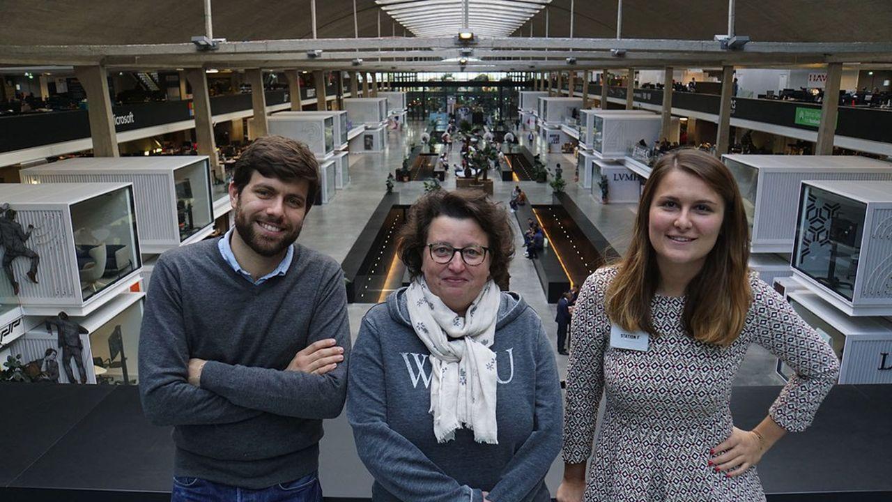 Anthoine Dusselier, Delphine Deleger et Maud Payan ont cofondé Tarmac Technologies.