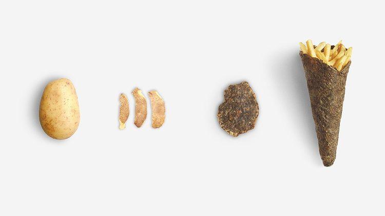 Que faire avec une pomme de terre ? Des frites... mais aussi un cornet à frites.