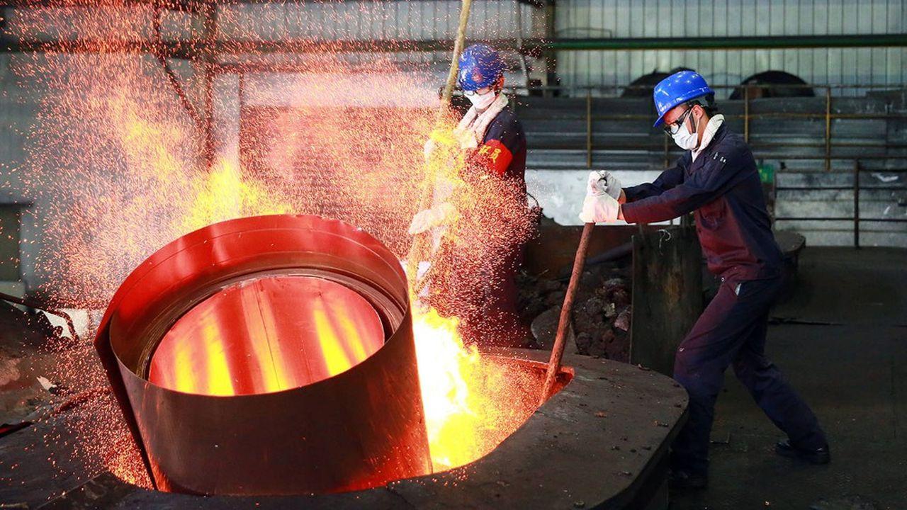 Une fonderie de cuivre à Jinhua, dans la région du Zhejiang en Chine.