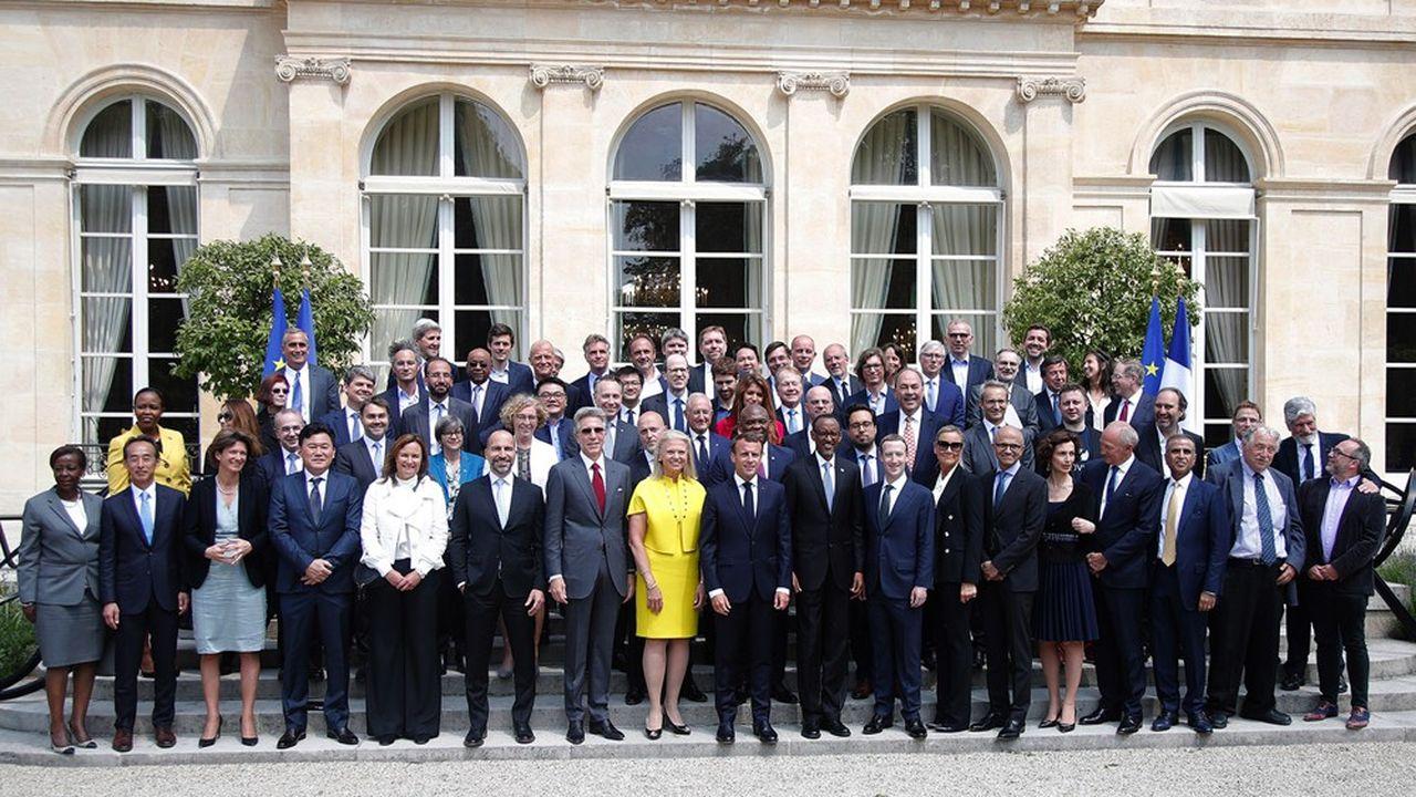 Lancés en2018 par Emmanuel Macron, les sommets Tech For Good rassemblent chaque année des dizaines de patrons de la tech mondiale sur différentes thématiques.