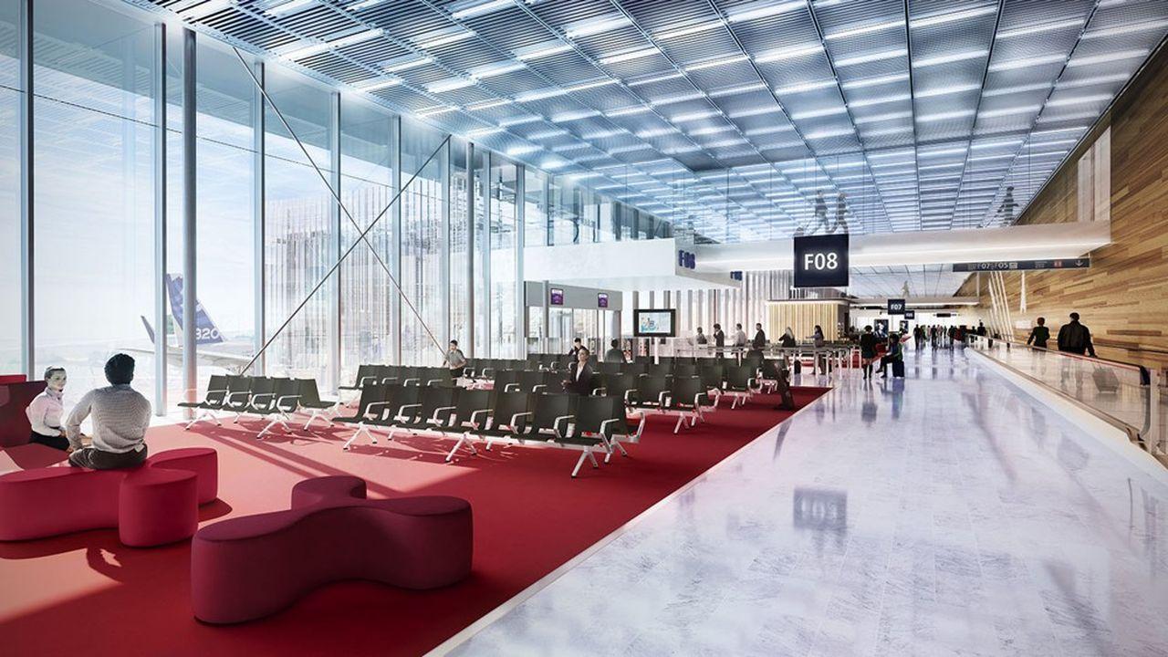 La nouvelle salle d'embarquement pour les passagers internationaux sera achevée à la mi-décembre.