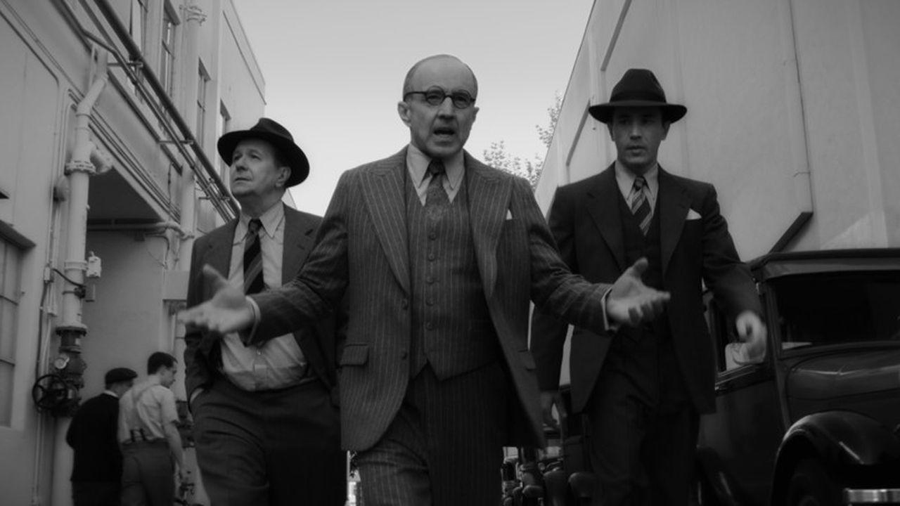 Gary Oldman (Herman Mankiewicz), Arliss Howard (Louis B. Mayer) et Tom Pelphrey (Joe Mankiewicz) sur Netflix.