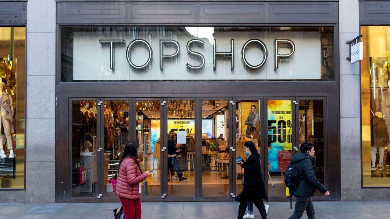 Le magasin Topshop sur Oxford Circus.