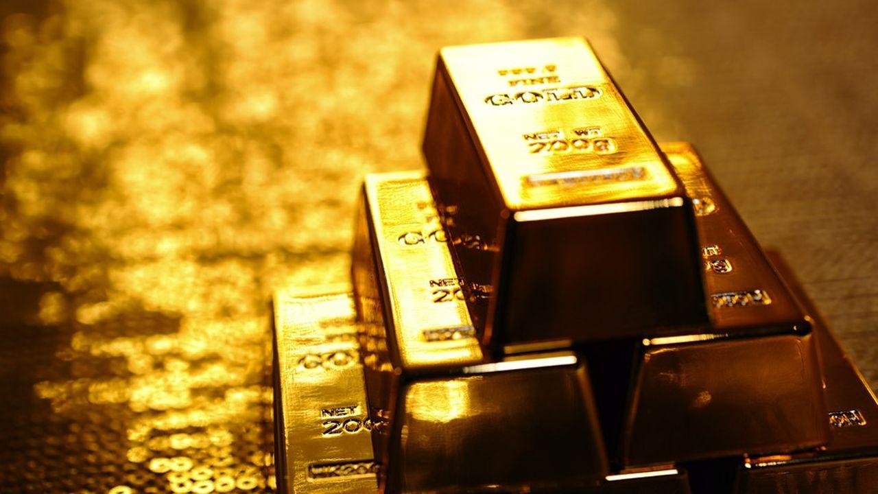 L'once d'or s'échange contre 1.800dollars environ après avoir atteint un pic à plus de 2.000dollars.