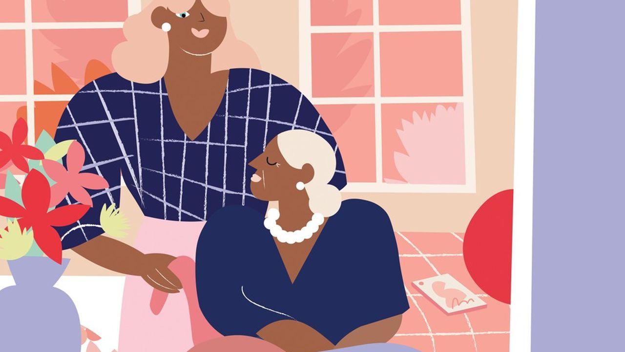 Personnes âgées : le parcours du combattant des aidants  Les Echos