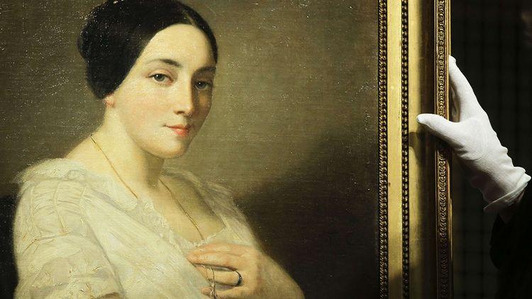 Le « Portrait d'une jeune femme assise », de Thomas Couture, a été restitué aux héritiers du ministre Georges Mandel par l'Etat allemand, en janvier 2019.