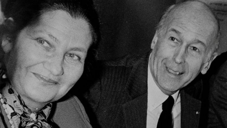 Valéry Giscard d'Estaing et Simone Veil, le 25 mars 1986.