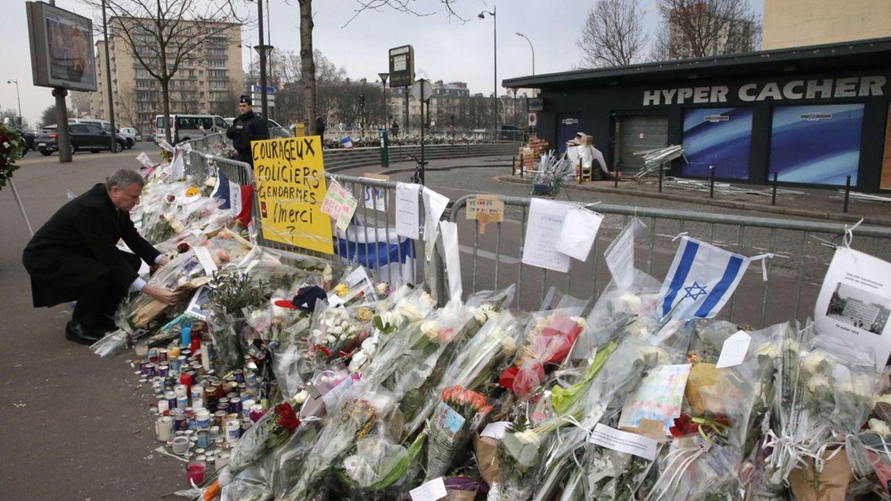 Sur le site de l'attaque terroriste du supermarché Hyper Cacher.