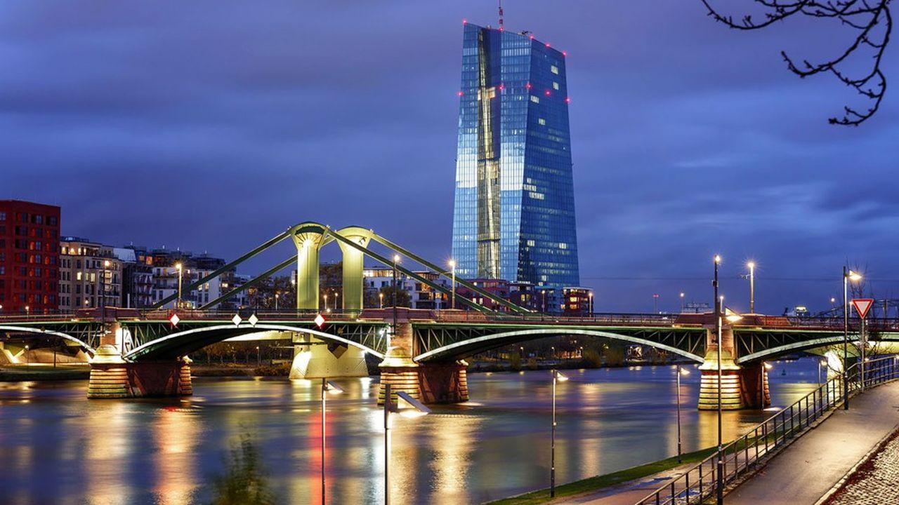 le siège de la Banque centrale européenne, à Francfort-sur-le-Main (Allemagne).
