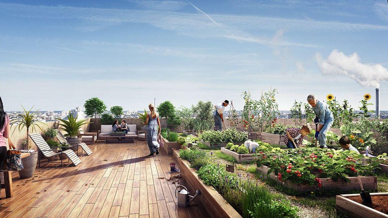 Le projet Wood Up (dans le 13earrondissement de Paris, quartier Bruneseau), dont la livraison est prévue en2022, sera la toute première tour de 15étages à 100% en ossature bois.