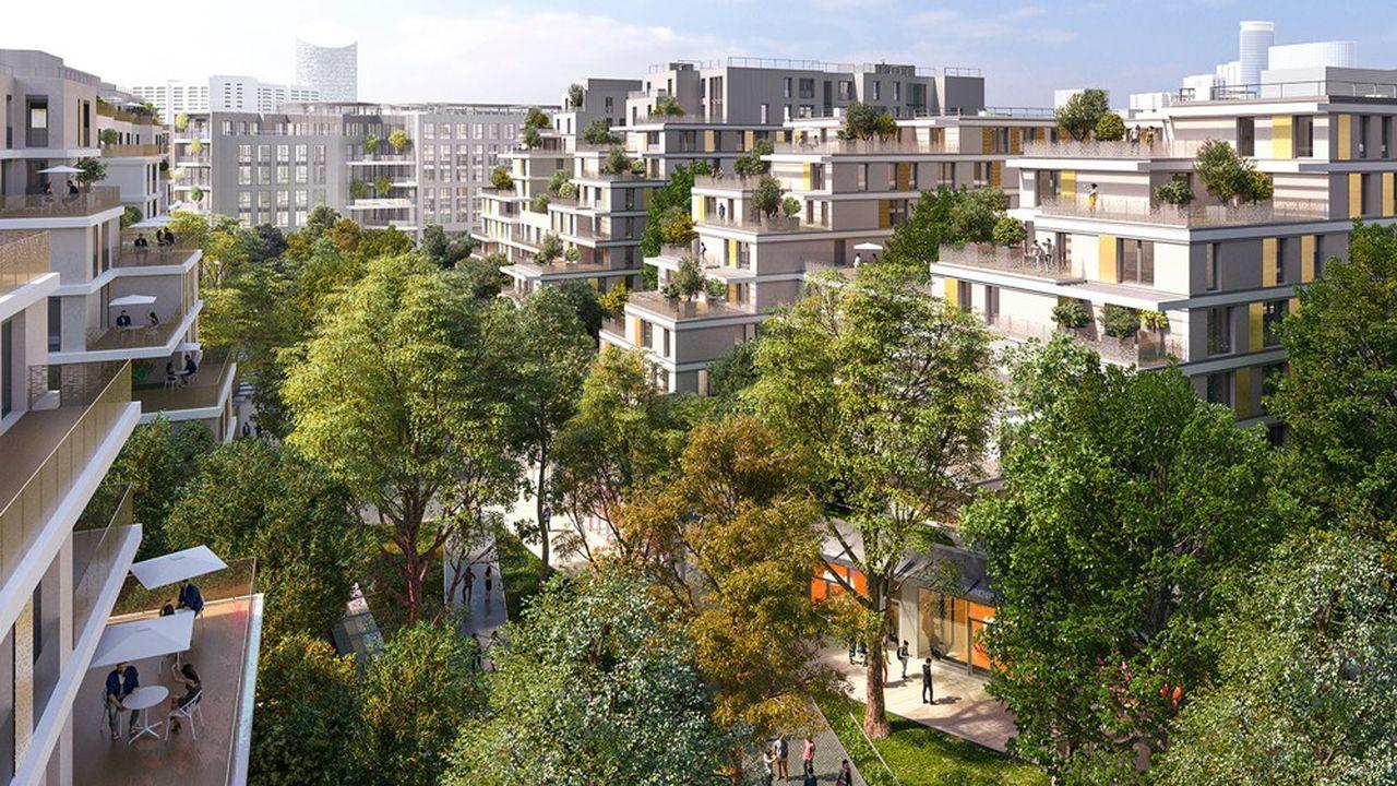 Dans l'écoquartier Issy-Coeur de Ville, en région parisienne, 41.000 m² de bureaux vont voir le jour.