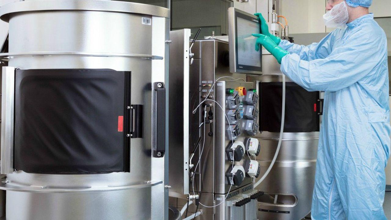 Le site actuel d'Yposkesi à Corbeil-Essonne abrite quatrelignes de production avec des bioréacteurs de 2.000litres.