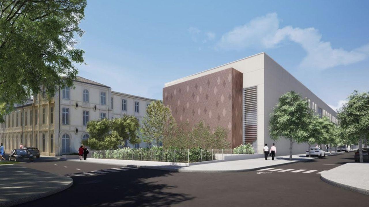 Le nouveau bâtiment abritera les laboratoires de recherche et deux amphithéâtres.