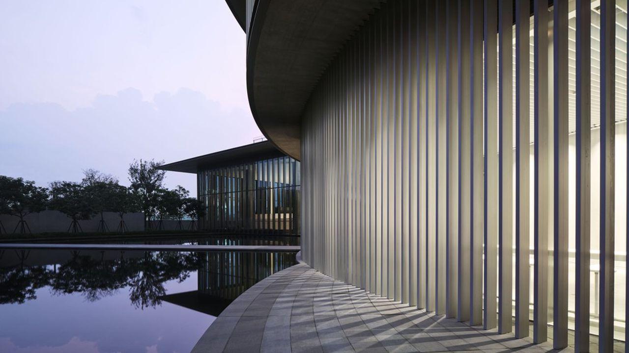 Vue extérieure du He Art Museum à Shunde.