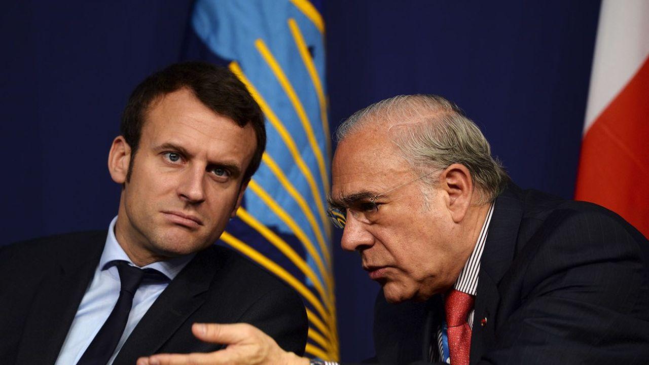 Emmanuel Macron sera aux côtés d'Angel Gurria pour la célébration du soixantième anniversaire de l'OCDE.