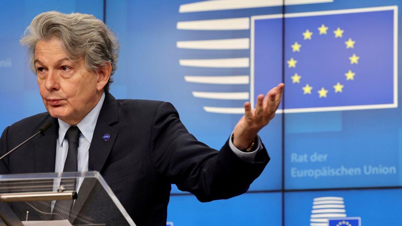 Thierry Breton, commissaire européen au Marché intérieur: «aucune entreprise au monde ne peut imposer sa loi. Les grandes plateformes le savent parfaitement.»