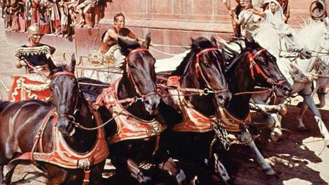 La superproduction de William Wyler déroule décors antiques et scènes mythiques, comme la fameuse course de chars.