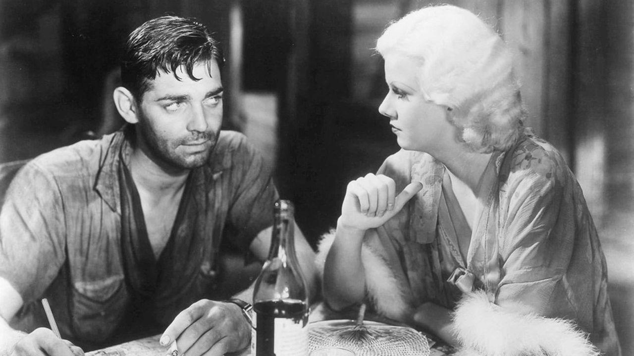 Clark Gable et Jean Harlow dans «La Belle de Saigon».