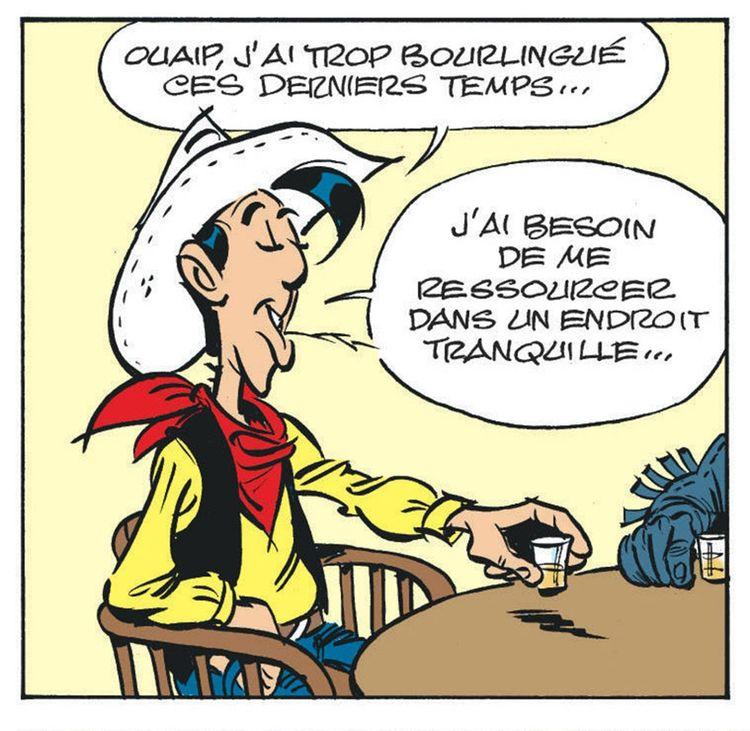 Case d'« Un Cow-boy dans le coton »,123e histoire mettant en scène Lucky Luke.