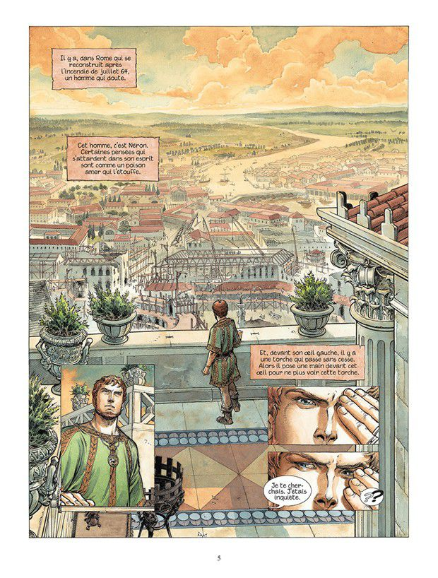L'auteur belge Jean Dufaux est également le « père »de la série Murena,(une planche du tome 11, Lemuria).