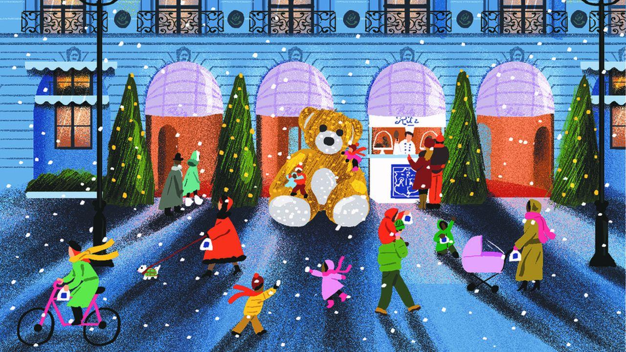 Sue la place Vendôme, la magie de Noël…