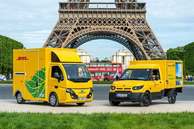 Pour ses livraisons parisiennes, DHL utilise une vingtaine de véhicules électriques grâce à son agence DistriGreen.