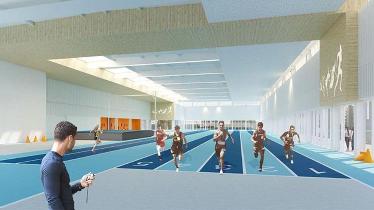 Pontoise construit une halle sportive d'athlétisme de 2.000 m² au stade Maradas-Joël-Moty