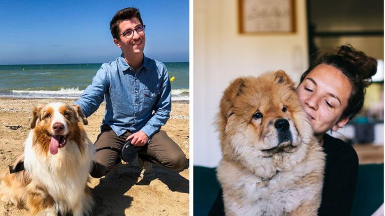 Claire et Tom Depirou ont lancé leur micro-entreprise de garde d'animaux et vivent de cette activité.