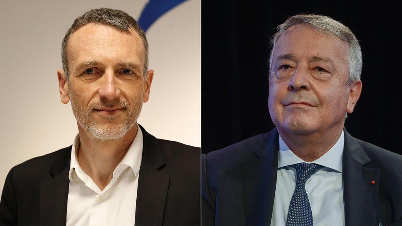Emmanuel Faber (Danone) et Antoine Frérot (Veolia), deux dirigeants du CAC 40 qui se sont démarqués en prenant des positions très appuyées en faveur de la RSE, de leur raison d'être et du respect des parties prenantes.
