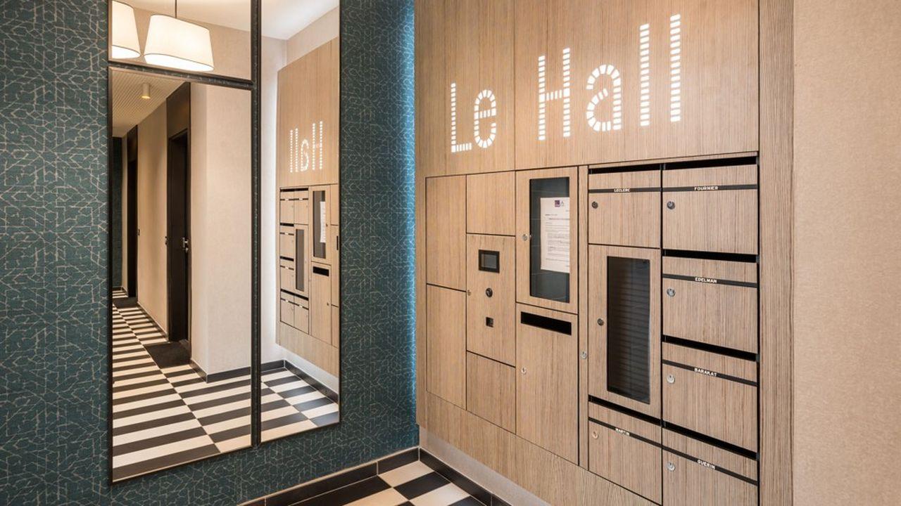 Decayeux développe de nouveaux concepts de halls d'entrée, dotés de boîtes aux lettres intelligentes, de tableaux d'affichage et d'interphones, interconnectés.