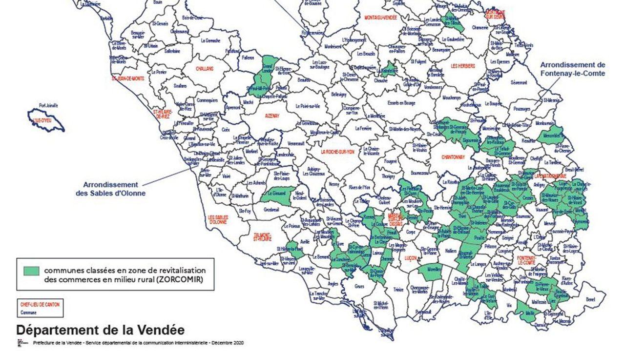 58 communes de Vendée sont concernées.