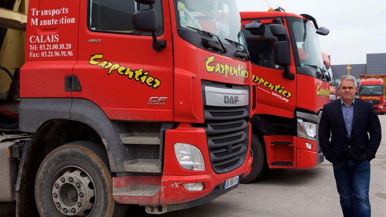 David Sagnard, le président de la société de transport Carpentier, basée à Calais, souligne toutes les incertitudes de l'accord franco-britannique pour les services routiers de fret de proximité.