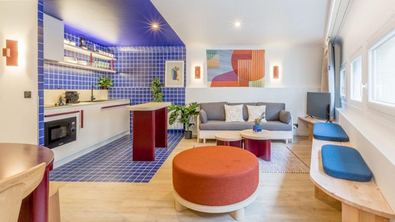 L'un des appartements hôteliers d'Edgar Suites rue Le Marois, à Paris. La dernière adresse ouverte.