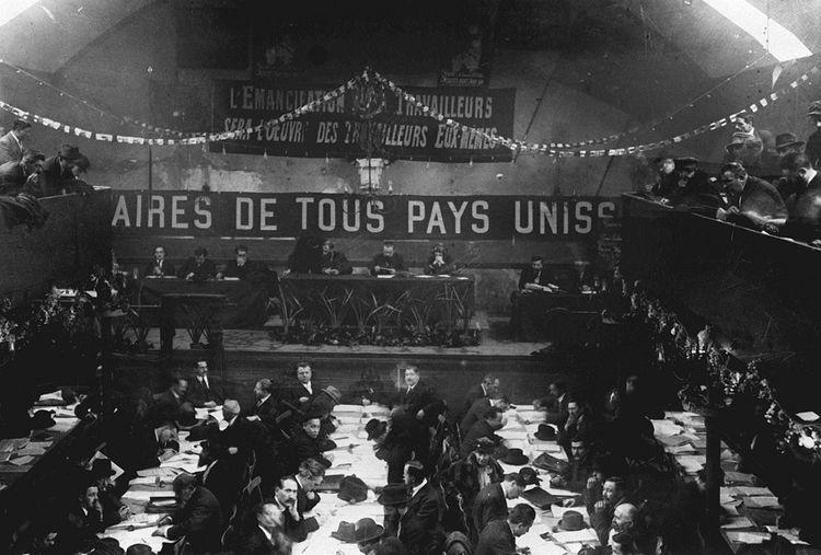 Le Congrès de Tours, en 1920.