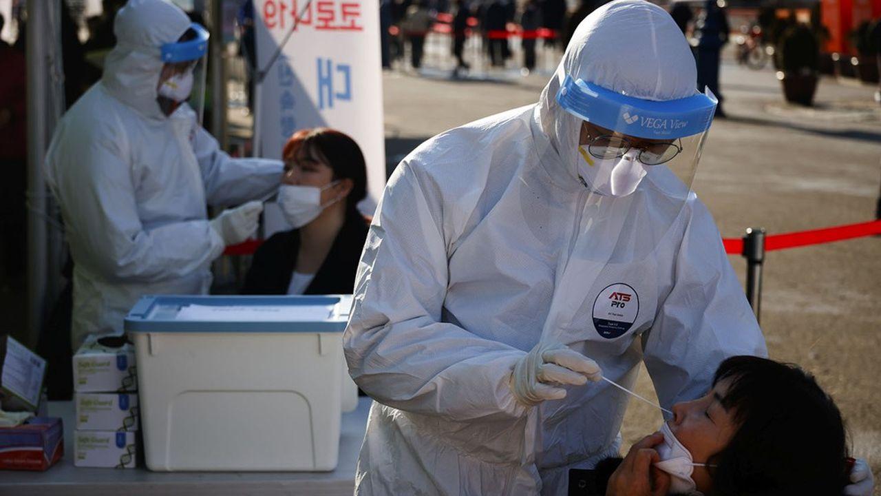 Des tests de dépistage du SARS-CoV-2 à Séoul, en Corée du Sud.