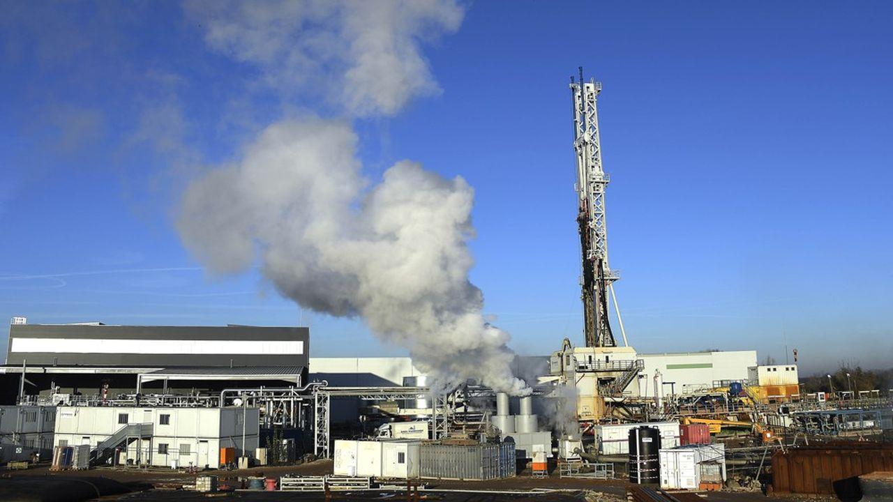 Le site de Fonroche géothermie dans une ancienne raffinerie de pétrole à Reichstett, en Alsace