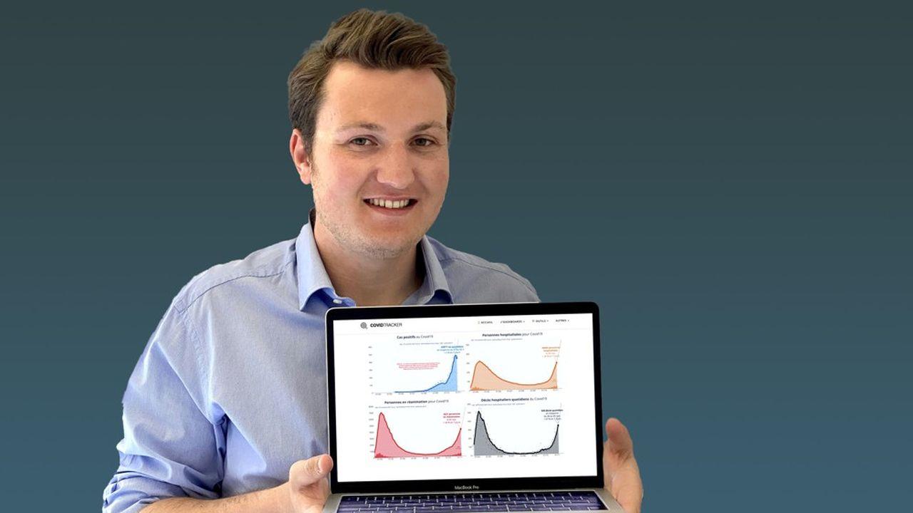 Guillaume Rozier, data scientist de 25 ans, a créé la plateforme CovidTracker, qui permet de suivre l'évolution de l'épidémie de Covid-19.