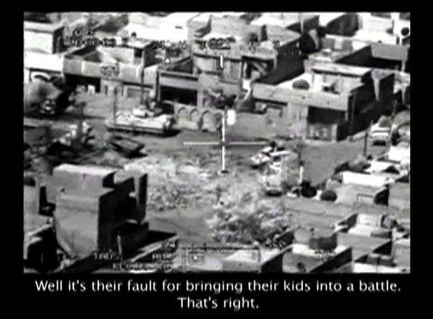 Capture de la vidéo de la bavure de l'armée américaine en Irak en 2007 révélée par Wikileaks.
